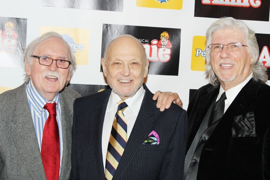 Thomas Meehan, Charles Strouse and Martin Charnin