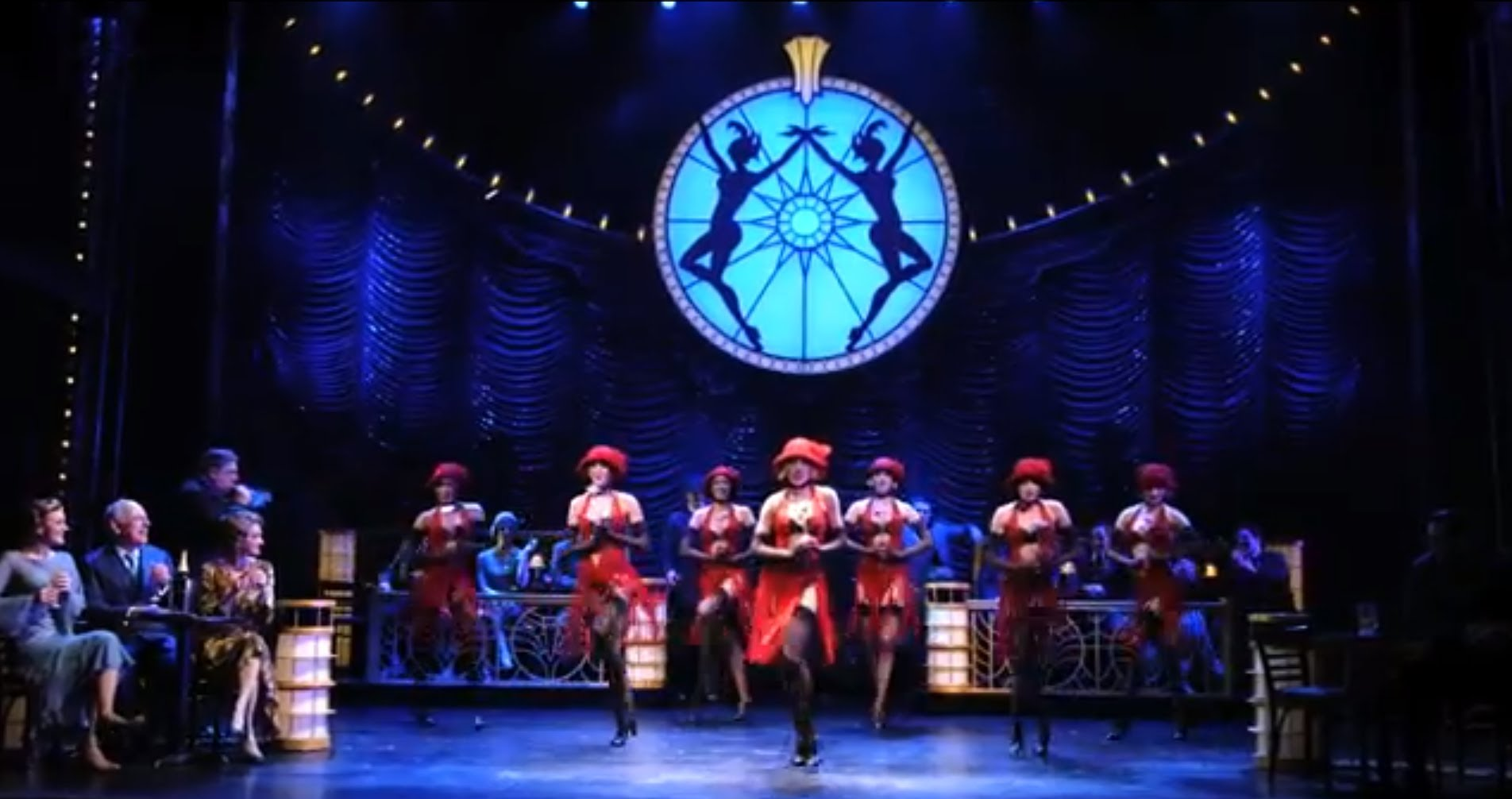 Watch scenes from BULLETS OVER BROADWAY, in performances at the St. James Theatre on...