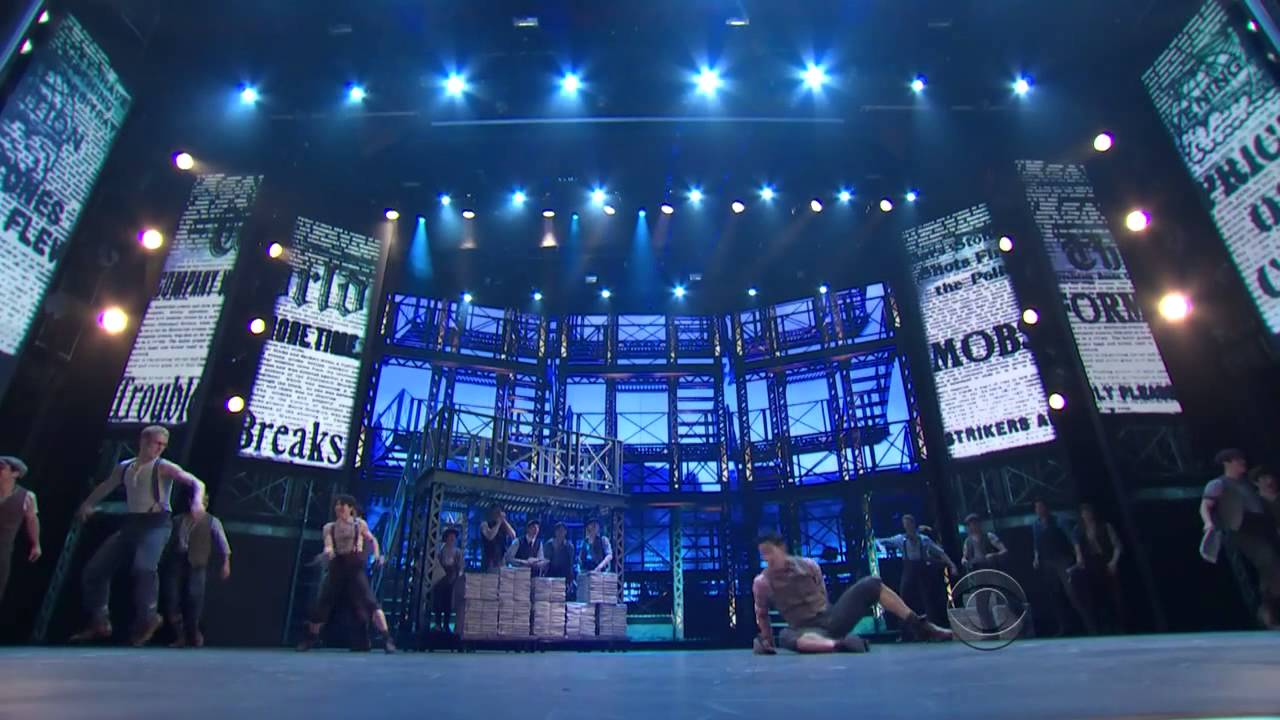The Broadway cast of NEWSIES's performance at the 2012 Tony Awards.