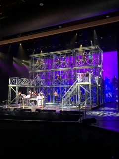 Newsies Set - 3 Towers + 2 Fire Escapes + Printing Press
