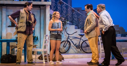 Tour Mamma Mia costume rental - the men and sophie - Front Row Theatrical Rental - 800-250-3114