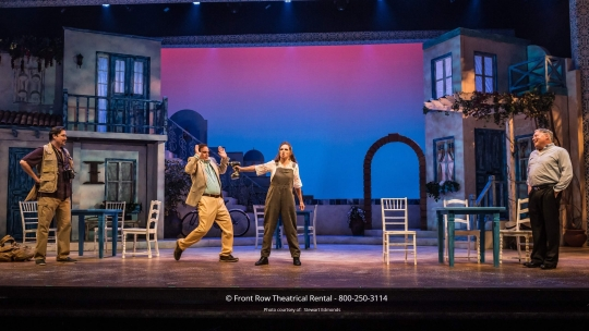 Mamma Mia premium scenery rental set from Front Row Theatrical Rental - 800-250-3114