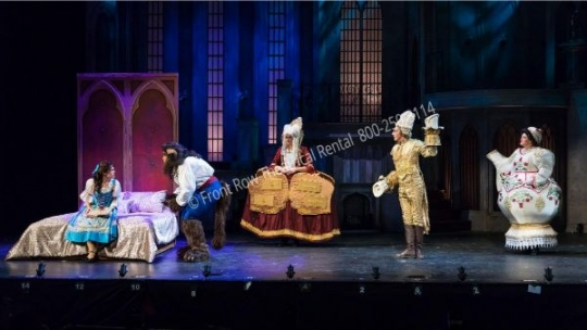 Beauty and the Beast Belle's Bedroom - set rental - Front Row Theatrical - 800-250-3114