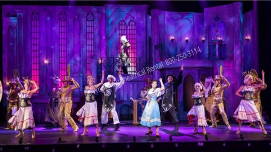 Beauty and the Beast Castle - set rental - Front Row Theatrical - 800-250-3114