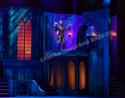 Beauty and the Beast West Wing jail- set rental - Front Row Theatrical - 800-250-3114