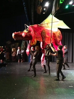 Dragon with 5 Puppeteers