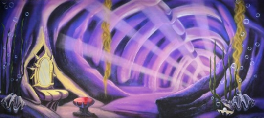 Ursula's Lair Backdrop is ideal to house Ursula for your production of The Little Mermaid