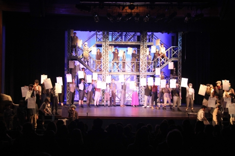 Newsies repositionable towers
