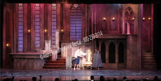 the castle set picture - Beauty and the Beast - Front Row Theatrical Rental - 800-250-3114