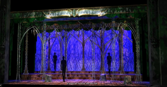 Into the Woods set rental - Opening - Stagecraft  Theatrical - 800-499-1504