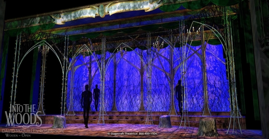 Into the Woods set rental - set close up - Stagecraft Theatrical  - 800-499-1504