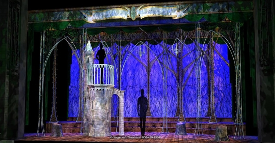 Into the Woods set rental - Rapunzels Tower - Stagecraft Theatrical - 800-499-1504