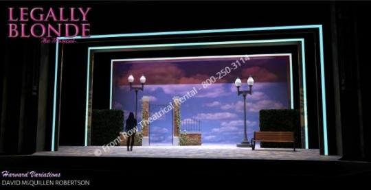 Legally Blonde professional set rental - Harvard Variations scenery