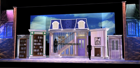 Mary Poppins scenery rental parlor - Stagecraft Theatrical - 800-499-1504
