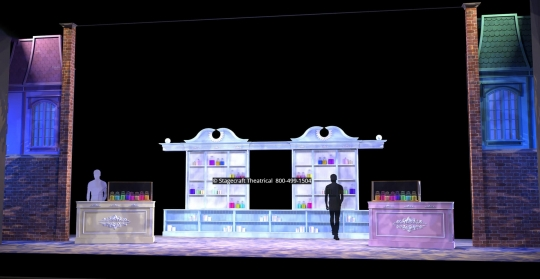 Mary Poppins scenery rental Talking Shop- Stagecraft Theatrical - 800-499-1504