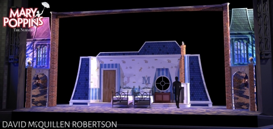 Mary Poppins Nursery- Front Row Theatrical Rental - Mary Poppins premium set rental