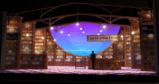 Matilda Set Rental - Library Picture - Front Row Theatrical Rental - 800-250-3114