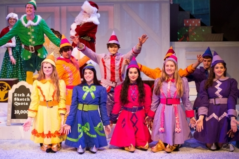 elf the musical, north pole elves, elf costumes, rental costumes