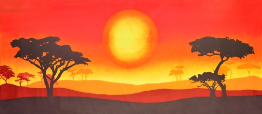 Grosh Backdrops and Drapery African Sun Landscape  used in productions of the Lion King