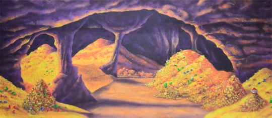 Gleaming Cave of Wonders Backdrop for the play Aladdin