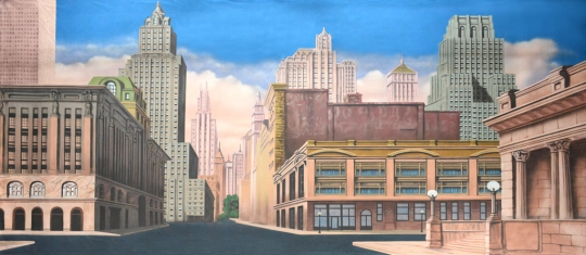 New York Street backdrop used in the Production of Annie and Madagascar