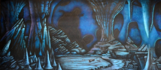 Grosh Backdrops Scars cave backdrop used for The Lion King and Aladdin shows.