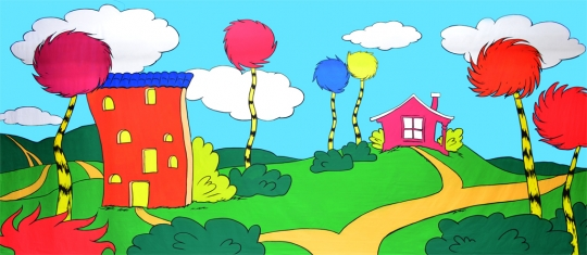 Seussical backdrop is ideal for the Seussical musical