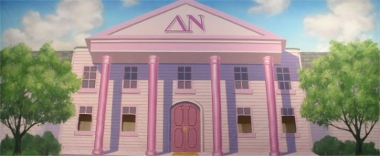 Sorority House Backdrop for the performance of Legally Blond