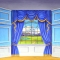 Grosh Backdrops Interior with Castle View backdrop is ideal for productions of Cinderella