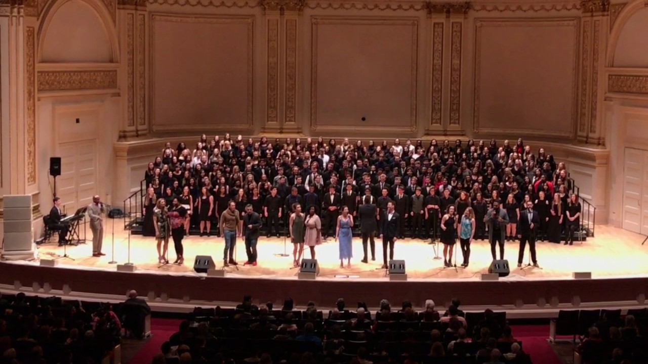 The Broadway cast of In Transit performs at Carnegie Hall.