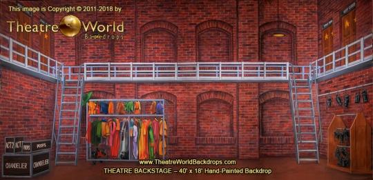 Theatre Backstage Scenic Backdrop